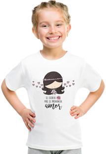 Camiseta Infantil Criativa Urbana Se Escreve Mamãe Branca