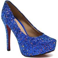 13e0ce572f Sapato Zariff Shoes Noivas Pump Glitter - Feminino-Azul
