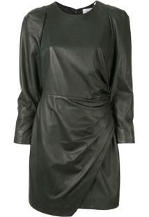 A.L.C. Lana Draped Dress - Verde