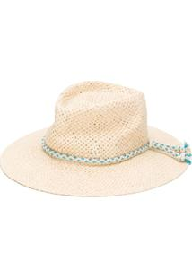 Maison Michel Rope Strap Woven Hat - Neutro