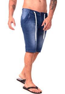 Bermuda Jeans Com Cordao Street Premium -Masculina Ks Casual&Sport