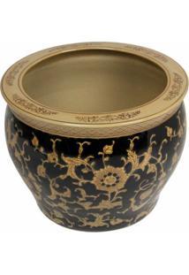 Cachepot De Porcelana Decorativo Korem