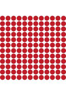 Adesivo De Parede Bolinhas Vermelhas 144Un