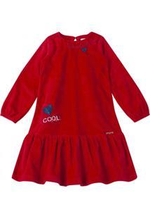 Vestido Momi Manga Longa Vermelho