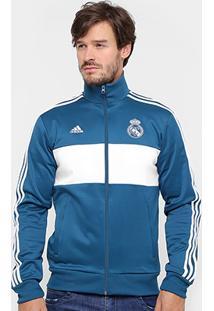 Jaqueta Real Madrid Adidas 3S Masculina - Masculino