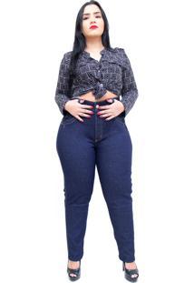 Calça Jeans Latitude Com Cinta Leia Azul