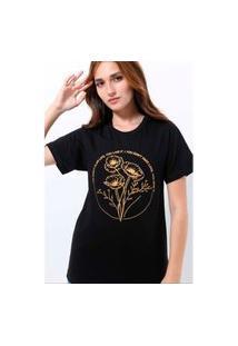 Camiseta Unissex Algodão Flowers On The Grave