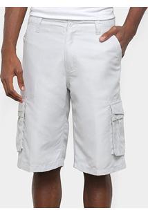 Bermuda Sarja Gajang Básica Masculina - Masculino-Prata
