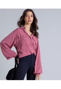 Camisa Manga Longa Bufante Bordo Cashemir - Lez A Lez