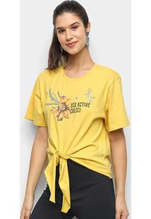 Camiseta Colcci Eco Active Feminina - Feminino-Amarelo