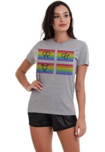 Camiseta Basica Joss Lgbt Igualdade Mescla - Kanui