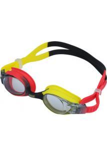 Óculos De Natação Speedo Quick - Infantil - Vermelho/Cinza Esc