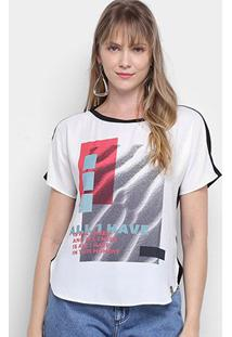 Camiseta Morena Rosa Abertura Lateral Enjoy Growing Feminina - Feminino