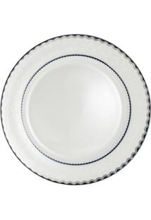 Jogo De Jantar 6 Peças Alto Relevo De Porcelana - Unissex-Branco