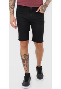 Bermuda Jeans Hang Loose Slim Bay Preta