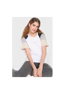 Camiseta Tricats Bit More Branco/Cinza
