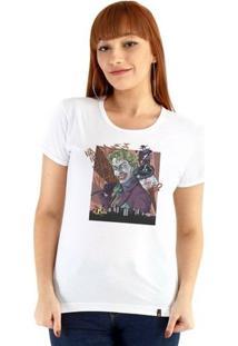 Baby Look Ouroboros Manga Curta Joker, O Palhaço - Feminino-Branco