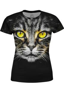 Camiseta Estampada Baby Look Over Fame Preta