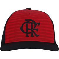 b0a1363b1a456 Boné Aba Curva Do Flamengo Cw Adidas - Snapback - Adulto - Preto Vermelho