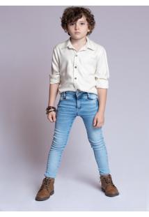 Camisa Viscose Mrx Jeans Off-White