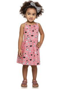 Vestido Infantil - Com Alcinha - Crush - Vermelho - Kamylus - 1