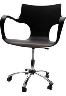Cadeira Jim Base Giratoria Cromada Cor Preto - 22600 - Sun House