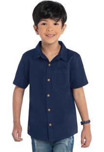 Camisa Infantil Rovitex Kids Azul