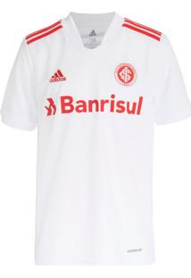 Camisa Infantil Adidas Internacional 2 21/22 Branco/Vermelho - 10