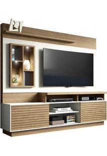 Estante Home Para Tv 65 Polegadas Eldorado Avelã Off White