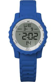Relógio 18K Digital Pulseira Silicone Caixa 5Cm - 18K Fiji - Unissex-Azul