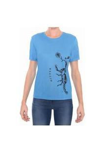 T-Shirt Basic M/C Gola C Silk Escorpião M.Officer Azul