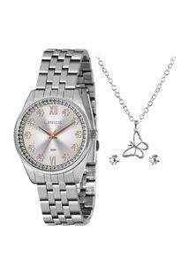 Relógio Lince Lrmj136L De Pulso Analógico Feminino Prata