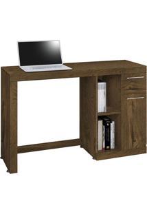 Mesa Para Computador Doris Nogal Acetinado
