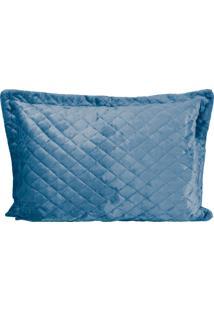 Porta Travesseiro De Plush Azul