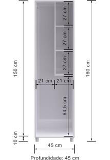 Armario Multiuso Decibal Mu311 Branco Se