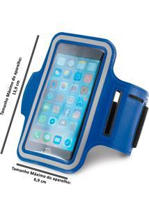 Braçadeira Esportiva Para Smartphone 5 Azul