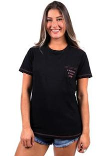Camiseta Vida Marinha Manga Curta Feminina - Feminino