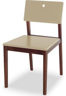 Cadeira Flip Cor Cacau Com Bege - 30820 - Sun House