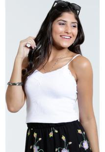 Blusa Feminina Com Renda Alças Finas Marisa