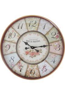 Relógio Kasa Ideia De Parede Rose 60Cm
