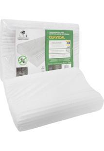 Travesseiro Fibrasca Cervical 50X70Cm Branco