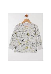 Pijama Infantil Para Menino - Cinza