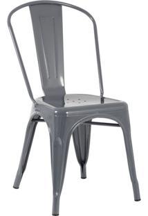 Cadeira Iron Tolix - Industrial - Aço - Vintage - Grafite - Cinza Escuro