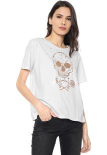 Camiseta Cavalera Skull And Roses Branca