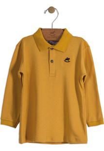 Camisa Polo Infantil Amarelo
