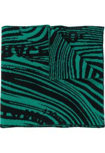 Rokh Cachecol De Tricô Com Padronagem - Verde