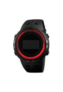 Relógio Skmei Digital -1360- Preto E Vermelho