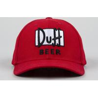 81f38c774d527 Boné Masculino Carnaval Duff Beer Os Simpsons Aba Curva Vermelho - Único