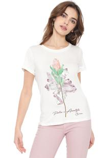 Camiseta Carmim Protea Off-White