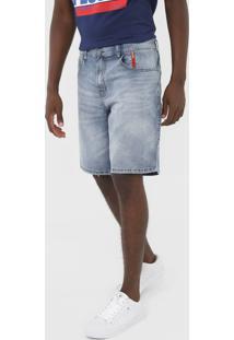 Bermuda Jeans 2Nd Floor Reta Estonada Azul - Kanui